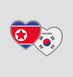 south korea and taiwan design vector image