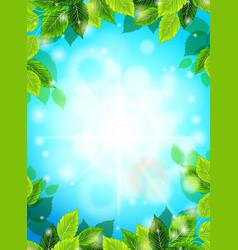 spring postcard design sunburst vector image