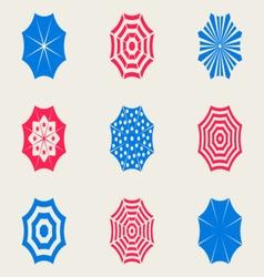 Sun umbrella icons vector
