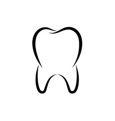 symbol tooth vector image