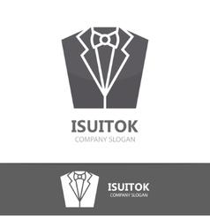 tuxedo logo design vector image
