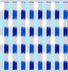 uzbek ikat silk fabric pattern indigo blue vector image