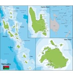 Vanuatu map vector image