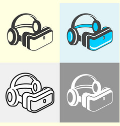 virtual reality glasses set vector image