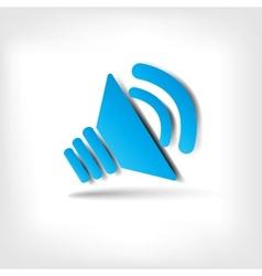 Web sound icon vector