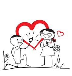Wedding Proposal vector image