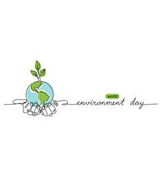 world environment day minimalist background vector image