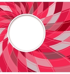 Abstract white round shape digital red background vector image vector image