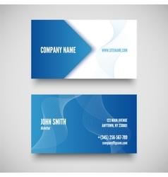 business card set elements for design vector image