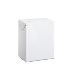 realistic white carton pack for juice vector image