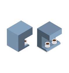 automatic coffee machine with two cups of coffee vector image