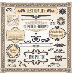 calligraphic designcs8 vector image
