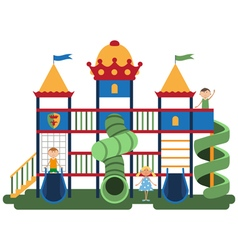 Children on kids playground with related items vector image vector image