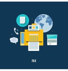 Fax icon in flat design vector