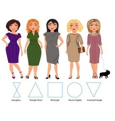 Five Figures bussiness dresses vector image
