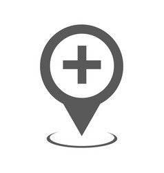 hospital map pointer icon simple vector image vector image