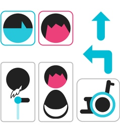 icon toilet symbol sign vector image