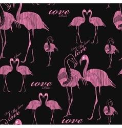 seamless pattern flamingo vector image