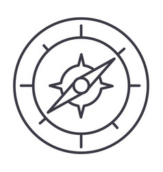 compass line icon sign on vector image