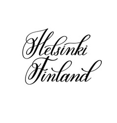 hand lettering the name of the european capital - vector image vector image