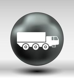 Military Truck icon button logo symbol concept vector image