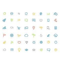 Modern web and mobile application color pictograms vector image