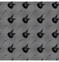 Seamless pattern guitars vector image
