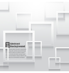 Square elements on white paper with shadow vector image
