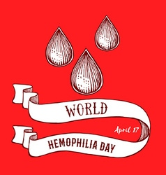World hemophilia day poster vector image