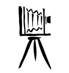 large format camera hand drawn vector image
