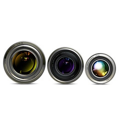 set of lens vector image vector image