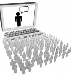 social network audience vector image