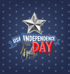 4th july usa independence day greeting card vector