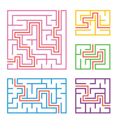 a set of colored square and rectangular vector image