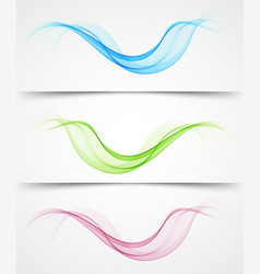 abstract background set color wave vector image