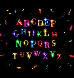 abstract shiny alphabet vector image