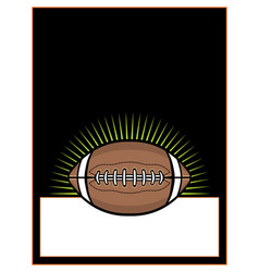 American football ball template background vector