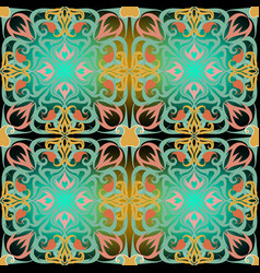 arabic floral colorful paisley seamless pattern vector image