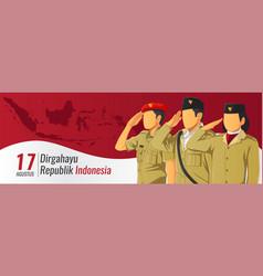 Banner hari kemerdekaan republik indonesia vector