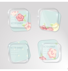 banner with a glass surface Eps vector image vector image