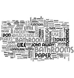Bathroom palacial text word cloud concept vector