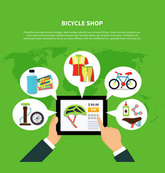 Bicycle shop concept vector