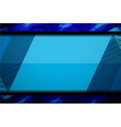 Blue background template design vector
