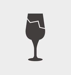 broken glass icon vector image