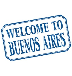Buenos Aires - welcome blue vintage isolated label vector
