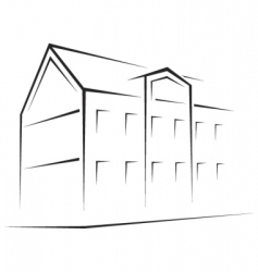 building symbol vector image