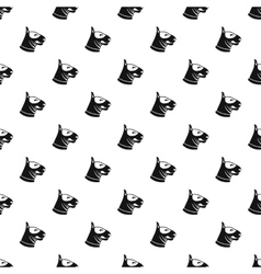 Bull terrier dog pattern simple style vector image