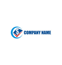 business finance money company logo vector image
