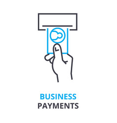 business payments concept outline icon linear vector image