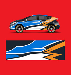 car decal graphic wrap vinyl sticker graphic vector image